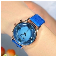 Women's Fashion Stereo Butterfly Leather Watch Stylish Female Quartz