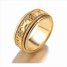 Buddha Sanskrit Mantra SIX WORDS Vintage Rings For Men
