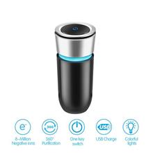 Portable Car Air Purifier Negative Ions Air Ionizer Air Freshner
