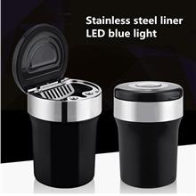 Metal Car ashtray Multifunction LED Auto Ashtrays Storage Cup Holder