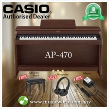 CASIO AP-470 88 Key Celviano Digital Piano Brown With Bench and Headph