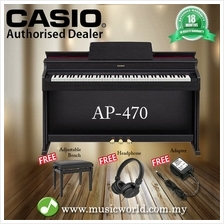 CASIO AP-470 88 Key Celviano Digital Piano Black With Bench and Headph