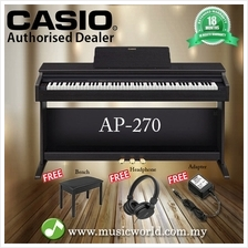 CASIO AP-270 88 Key Celviano Digital Piano Black With Bench and Headph