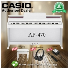 CASIO AP-470 88 Key Celviano Digital Piano White With Bench and Headph