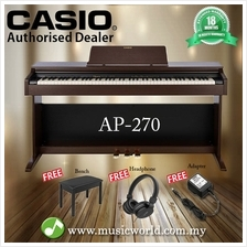 CASIO AP-270 88 Key Celviano Digital Piano Brown With Bench and Headph