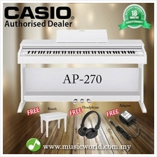 CASIO AP-270 88 Key Celviano Digital Piano White With Bench and Headph