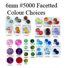 6mm #5000 Swarovski Crystal Facetted Round 24pcs Color choices