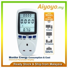 UK Plug Energy Power Meter Socket Watt Volt Voltage Electricity Monito