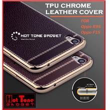 OPPO R7s R7 R9 F1S F1 NEO 9 A37 A59 R9s TPU CHROME LEATHER COVER