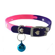 Rubber Collar with Bell for Cats & Dogs with Love Design 1cm