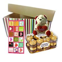Mother's Day Ferrero Rocher Chocolate 16pc & Bear with Gift Box