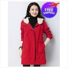 Korean Design Women Lady Hooded Winter Autumn Jacket Coat