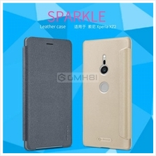 Sony Xperia XZ2 Compact Nillkin SPARKLE Slim Leather Flip Cover Case