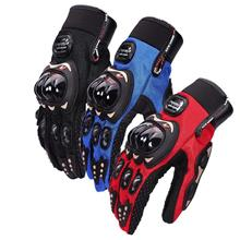 Pro Biker Motorcycle Gloves Full Finger (L Size)