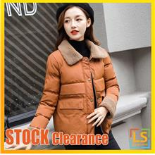 Women Lady Turn Down Collar Winter Autumn Jacket Coat