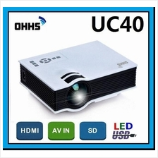 [ 1 Year Warranty ] OHHS UC40 Mini SVGA 800 Lumens Projector