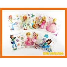 CS202 - Assorted Girls Mini Clear Stamp