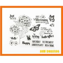 CS210 - Flowers and Wishing Clear Stamp