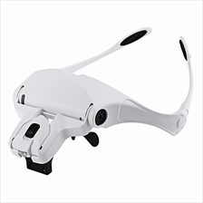 Headband Glasses Interchangeable Style Magnifier with 2 LED