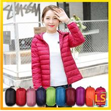 Water Proof Women Lady Hooded Light Feather Down Autumn Jacket