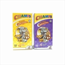 Champs Vit C 30mg Chewable Orange 100s + Blackcurrant 100s