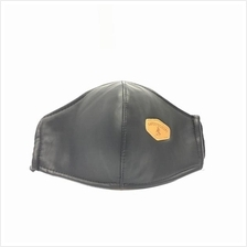 LIMITED EDITION LEATHER ADULT FACE MASK CLOTH 1 PIECE (REUSABLE)