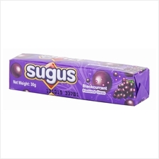 SUGUS CHEWABLE CANDY BLACKCURRANT 30G X 3 PIECES