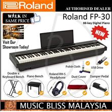 Roland FP-30 88key Digital Piano Musician Pack-Black[2 YEARS Warranty]