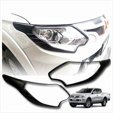 Mitsubishi Triton 2015 Head Lamp Cover Matte Black