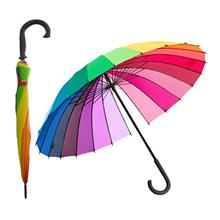 Colourful Rainbow 56cm Automatic Umbrella