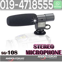 SG-108 Pro DV Stereo Microphone For Canon 60D 5D MARK II 7D