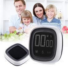 LCD Touch Screen Digital Kitchen Timer Buzzer Alarm Stopwatch with LED
