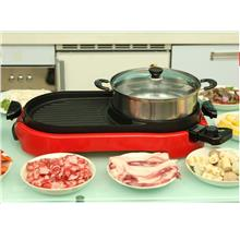 Electric Steamboat Grill Pan Heating Bbq