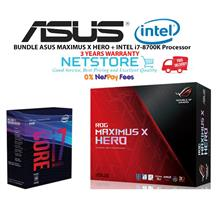 PWP ASUS MAXIMUS X HERO MOTHERBOARD + INTEL i7-8700K Processor