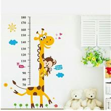 Children Giraffe Monkey Height Measurement Wall Sticker Decal