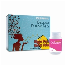 Total Image Beauty Dutox Tea 50 sachets FREE Collagen 10 tablets)