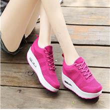 2018 Spring New Fly Mesh Surface Breathable Casual Shoes Thick Rocking