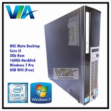 Refurb NEC Mate Desktop -Core i5~2Gb~160Gb~Windows 7 Pro~Free USB Wifi