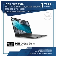 DELL XPS 9570 (INTEL I7-8750H,16GB,512GB SSD,NVD GEFORCE GTX 1050Ti TOUCH,WIN1