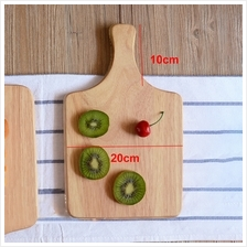 Solid Wood Square Pizza Peel Paddle Bread Cupcakes Serving Tray 20cm