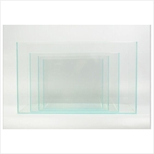 Crystal Clear Glass Cube Aquarium Tank 40x23x25cm Aquascape