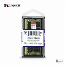Kingston 16GB DDR4 2400Mhz SO-DIMM CL17 Notebook Ram (KVR24S17D8/16)