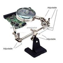 Sturdy Mini Third Helping Hand Soldering Stand with Magnifying Glass