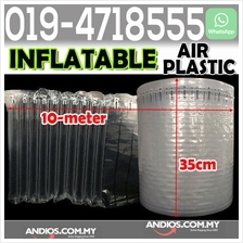 Inflatable Air Cushion Packaging Protective Bubble Pack Wrap 35cm*10me