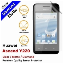Premium Diamond Matte Clear LCD Screen Protector Huawei Ascend Y220