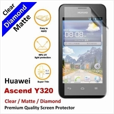 Premium Diamond Matte Clear LCD Screen Protector Huawei Ascend Y320