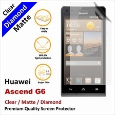 Premium Diamond Matte Clear LCD Screen Protector Huawei Ascend G6