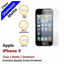 Premium Diamond Matte Clear LCD Screen Protector Apple iPhone 5 5S 5C