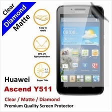 Premium Diamond Matte Clear LCD Screen Protector Huawei Ascend Y511