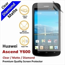 Premium Diamond Matte Clear LCD Screen Protector Huawei Ascend Y600
